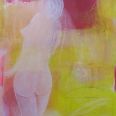 Séverine acrylique sur toile 100x70cm