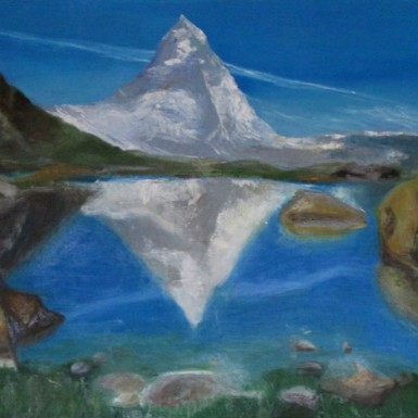 8_Matterhorn mit Riffelsee F15_65x54
